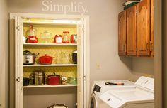 Appliance garage Appliance Garage, Bathroom Medicine Cabinet, Sweet Home, Kitchen Cabinets, Appliances, Home Decor, Gadgets, Accessories, Decoration Home