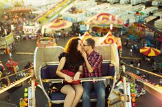 Be kissed at the top of a ferris wheel