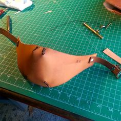 Leather Tan Motorcycle Mask by SteelAudrey on Etsy