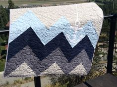 The Blue Wave Anchor Quilt by QuiltsbyKimberlyDawn on Etsy