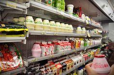 banana milk shared by maryana ★ on We Heart It Korean Street Food, Korean Food, Banana Milk Korean, Korean Drinks, Japanese Store, Supermarket Shelves, Korean Dishes, Japanese Snacks, Aesthetic Food