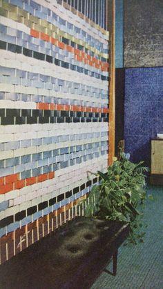 DIY Vintage Room Divider Mid-Century Modern