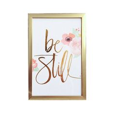 Gold foil and watercolor Be Still Print by JulieSongInk on Etsy, $20.00