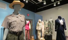 The exhibit is small, but each piece has so much history that it seems bigger. Each uniform was worn, used and loved by a working woman.
