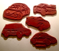 Classic VW RUBBER STAMP SET 5 UM 1960's Bug & Convertible Thing EOS, New Beetle | eBay