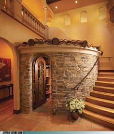 Wonderful wine cellar...