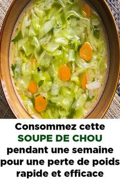 These weight loss soup recipes will help you drop the pounds without sacrificing any of the flavour. Try these best soups for weight loss / weight loss soup. Weight Loss Soup, Weight Loss Meals, Weight Loss Smoothies, Diet Plans To Lose Weight, How To Lose Weight Fast, Cabbage Soup Diet, Cabbage Soup Recipes, Detoxification Diet, Fat Burning Soup