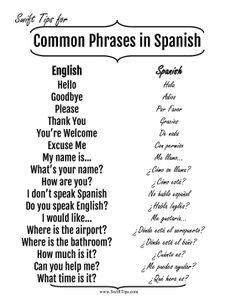 Learn Spanish phrases for basic traveling communication and interaction with this printable language guide. Free to download and print