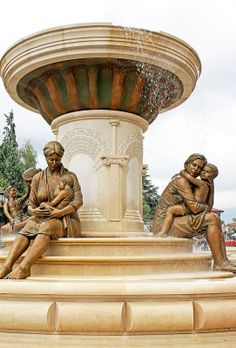 #Macedonia - Mother Olimpia and Aleksandar of Macedonia in Skopje Macedonia