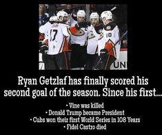 Ryan Getzlaf, First World Series, Hockey Memes, Fidel Castro, Cubs, Donald Trump, Presidents, Puppies, Bear Cubs