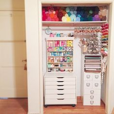 We are #fangirling over @inspirelovely's #craftcloset!!  What kind of spaces have you turned into your #craftcorner?