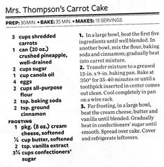 Mrs.Thompson's Carrot Cake