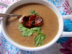 Crema de Frisoles (Columbian Red Bean & Chorizo Soup)
