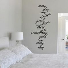 Something Good In Every Day Quotes Wall Decals, Stickers