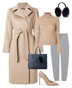 """""""Cashmere, Nude & Joggers"""" by molauren on Polyvore featuring MaxMara, Manolo Blahnik, T By Alexander Wang, Barneys New York, STELLA McCARTNEY and Orciani"""