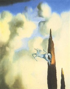 Morning Ossification of the Cypress, 1934 Salvador Dali