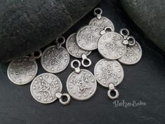 Buy Now 10 Pc Mini Coin Charms Silver Coins Mini Coin Charms... Turkish Jewelry, Coin Pendant, Silver Coins, Buy Now, Charms, Pendants, Personalized Items, Mini, Stuff To Buy