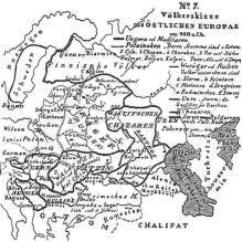 Harta A Europei De Est 900 D Hr Hristorisch Geographischen Hand