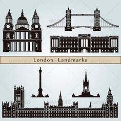 London Landmarks and Monuments  #GraphicRiver         London landmarks and monuments isolated on blue background in editable vector file     Created: 14August13 GraphicsFilesIncluded: JPGImage #VectorEPS Layered: Yes MinimumAdobeCSVersion: CS Tags: architecture #black #bluebackground #building #city #cityscape #destination #england #europe #greatbritain #icon #illustration #isolated #landmark #london #metropolis #monuments #outline #place #set #silhouette #skyline #skyscraper #symbol #travel…