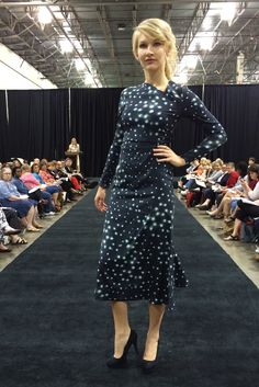 really love this print --> Vogue Patterns dress V1406 by Rachel Comey. As seen at the 2014 American Sewing Expo.