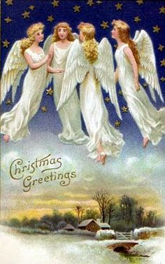 Christmas greetings, Wish we could fly at will to visit each other...
