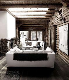Chalet lodge!  Modern rustic...so chic  designer Ole Damm photog Wichman-Bensten