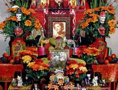 Forbidden Fruit altar installation,  Grave Matters exhibition 2006, Loveland Museum/Gallery,  Laurie Beth Zuckerman, ICONARTE​