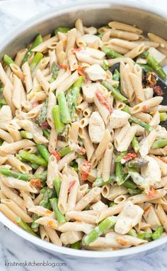Creamy Lemon Pasta with Chicken and Asparagus - an easy, one-pot meal!