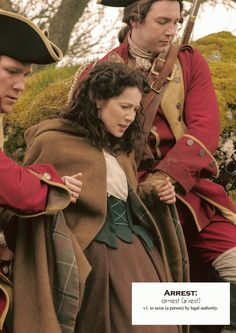 Voyager Sassenach : Outlander definitions.- Arrest. (x)