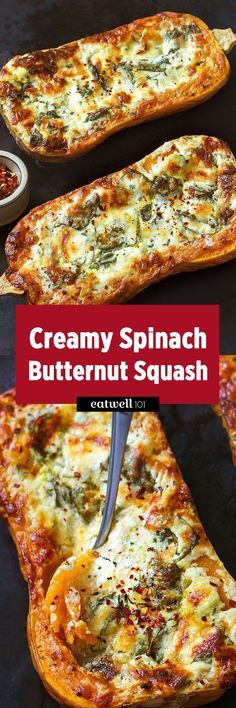 After our baked four-cheese garlic spaghetti squashbecame so popular(thanks to all our readers!), we decided to give the same treatment to one of our favorite seasonal fare: butternut squash! Wit…