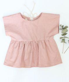 Dusty Rose Linen & Cotton Tunic | TajandMe on Etsy