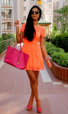 Cowls, Orange and Orange dress on Pinterest