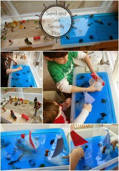 Sand and Sea Sensory play! Natural Beach Living: Tot Time Preschool Letter S
