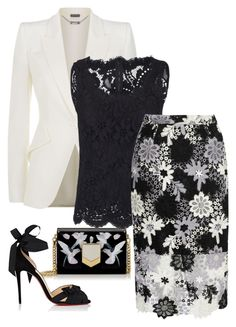 """""""Untitled #155"""" by hisprincess2017 on Polyvore featuring Jimmy Choo, Alexander McQueen, Dolce&Gabbana, True Decadence and Christian Louboutin"""