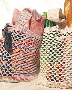 Crochet Market Bags (with thick straps and bottom): free crochet pattern