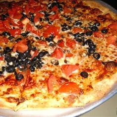 """Thin Crust Pizza Dough on BigOven: Try this Thin Crust Pizza Dough recipe, or contribute your own.  """"Grains"""" and """"Breads"""" are two of the tags cooks chose for Thin Crust Pizza Dough."""