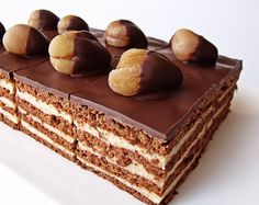 Citromhab: Csokoládés gesztenyés kocka