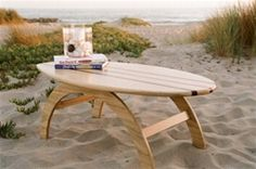 surf board table