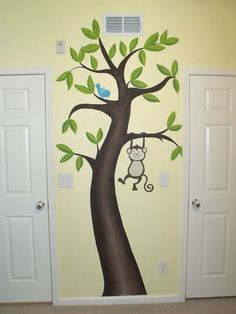 mural for kids room monkey | Murals, Facepainting, Balloons and Art for Kids - Murals