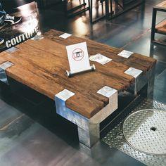 Брутальный кофейный стол из массива тика  Prius 120/80 на оригинальных металлических ногах. http://www.teakhouse.ru/ru/mebel/table/kofeynye_stoliki/ctol_kofeynyy_prius_120_80/