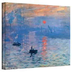Canvas reproduction of Sunrise by Claude Monet. Made in the USA.  Product: Wall artConstruction Material: