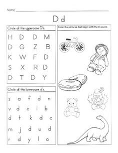 math worksheet : letter d detective  letter d detective and worksheets : Letter D Worksheets Kindergarten