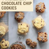 3 Recipes for chocolate chip cookies 1 cup peanut butter (can substitute any nut butter) 1 cup sugar 2 eggs 1 cups chocolate chips (can substitute dairy-free chips) Gluten Free Treats, Gluten Free Desserts, Dairy Free Recipes, Vegan Desserts, Dessert Recipes, Cookie Recipes, Vegetarian Cookies, Drink Recipes, Gluten Free Chocolate Chip Cookies