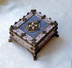 Купить Mine Precious - прелесть, серебряный, шкатулка для украшений, шкатулка декупаж, шкатулка ручной работы
