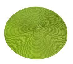 Prostírání PVC, zelená - Sada 6 ks
