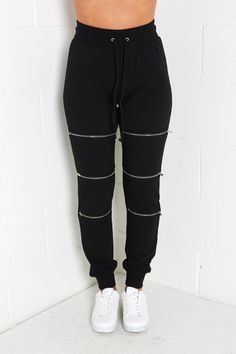 Jogger with Zipper Detail