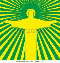 Rio De Janeiro Christ The Redeemer Vector Art - 183377228 : Shutterstock