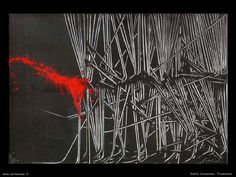 Action Painting, Textiles, Back To Black, Printmaking, Red And White, Contemporary Art, Opera, Drawings, Prints