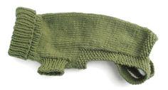 Morehouse Merino Original Dog Sweater Pattern w/ sizing chart.