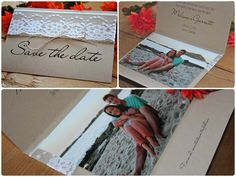 Lace Photo Save the Date  Rustic Weddings by RusticEleganceDesign, $2.75